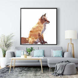 Framed 48 x 48 - Red fox