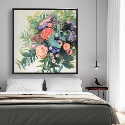 Framed 48 x 48 - Flowers melody