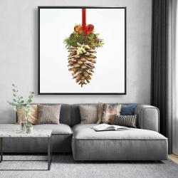 Framed 48 x 48 - Christmas pine cone