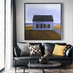 Framed 48 x 48 - Blue barn