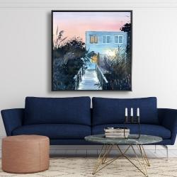 Framed 48 x 48 - Beach house
