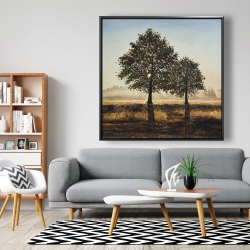 Framed 48 x 48 - Trees in the countryside