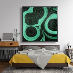 Framed 48 x 48 - Malachite stone