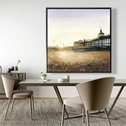 Framed 48 x 48 - Sunset at the beach