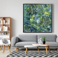 Framed 48 x 48 - Abstract succulents