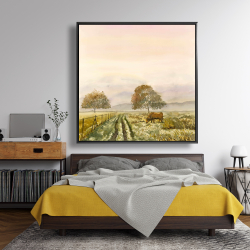 Framed 48 x 48 - Sweet morning in the countryside