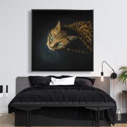 Framed 48 x 48 - Bengal cat