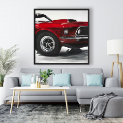 Framed 48 x 48 - Classic red car