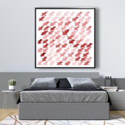 Framed 48 x 48 - X red pattern