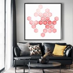Framed 48 x 48 - Alveoli red