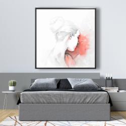 Framed 48 x 48 - Pastel woman