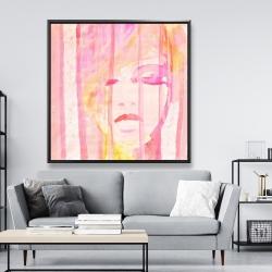 Framed 48 x 48 - Abstract portrait feminine