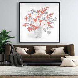Framed 48 x 48 - Flower illustration