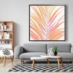 Framed 48 x 48 - Glam palm leaf