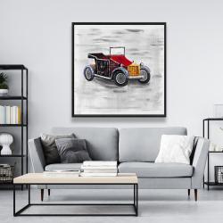 Framed 48 x 48 - Vintage car with sunroof