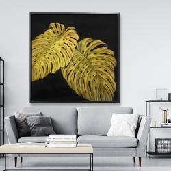 Framed 48 x 48 - Gold monstera