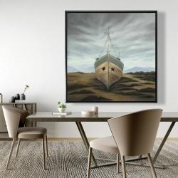 Framed 48 x 48 - Boat