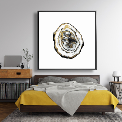 Framed 48 x 48 - Golden geode