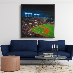 Framed 48 x 48 - Baseball game