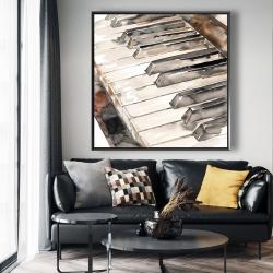 Framed 48 x 48 - Piano