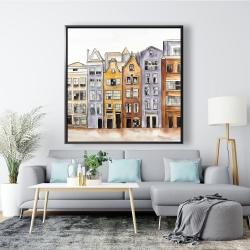 Framed 48 x 48 - Amsterdam houses hotel
