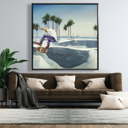 Framed 48 x 48 - Skate park california