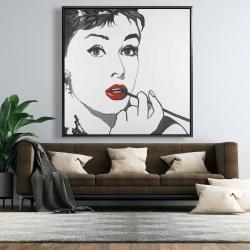 Framed 48 x 48 - Audrey hepburn outline style