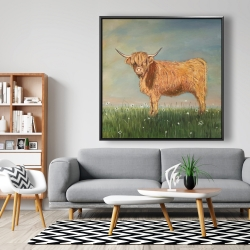 Framed 48 x 48 - Daisy the highland cow