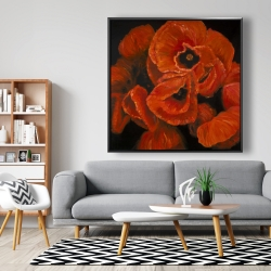 Framed 48 x 48 - Poppy bouquet