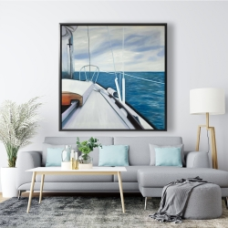 Framed 48 x 48 - Sail on the water