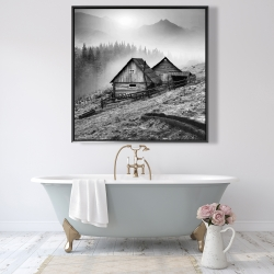 Framed 48 x 48 - Mountain carpathian village