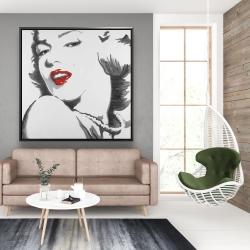 Framed 48 x 48 - Marilyn monroe outline style