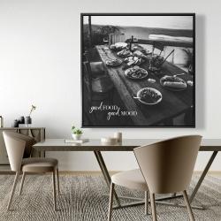 Framed 48 x 48 - Good food good mood