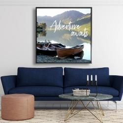 Framed 48 x 48 - Adventure awaits