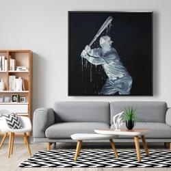 Framed 48 x 48 - Baseball player
