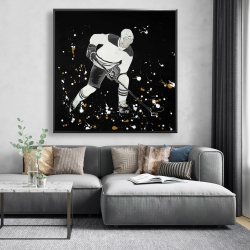 Framed 48 x 48 - Hockey player in action