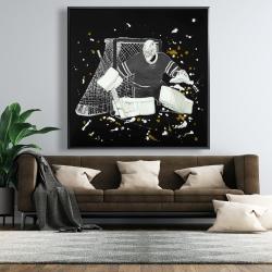 Framed 48 x 48 - Goalkeeper hockey