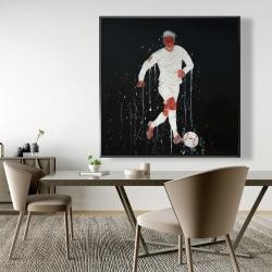 Framed 48 x 48 - Soccer player
