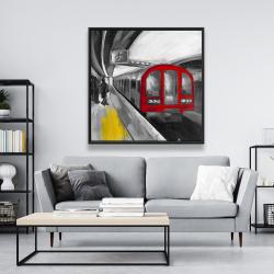 Framed 48 x 48 - Waiting subway