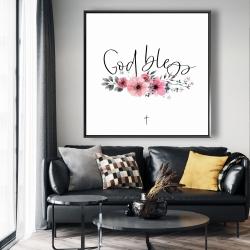 Framed 48 x 48 - God bless