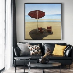 Framed 48 x 48 - Relax at the beach