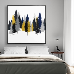 Framed 48 x 48 - Golden fir