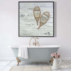Framed 48 x 48 - Snowshoes