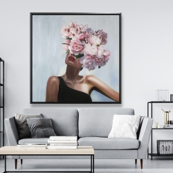 Framed 48 x 48 - See life in flowers