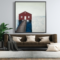 Framed 48 x 48 - Boathouse