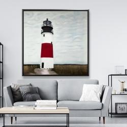 Framed 48 x 48 - Sankaty head lighthouse