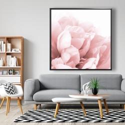 Framed 48 x 48 - Peony flower dream