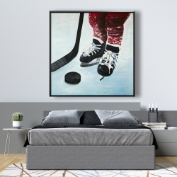 Framed 48 x 48 - Young hockey player