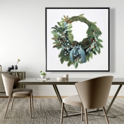 Framed 48 x 48 - Christmas wreath
