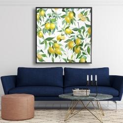 Framed 48 x 48 - Lemon pattern